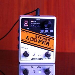 Image 4 - جودة جيدة أجزاء الغيتار ammoon ستيريو وبر حلقة سجل الغيتار تأثير دواسة 10 حلقات مستقلة كحد أقصى. 10 دقيقة وقت التسجيل