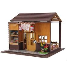 Gifts New Brand DIY Doll Houses Wooden Doll House Unisex dollhouse Kids Toy Furniture Miniature crafts free shipping 13827(China)