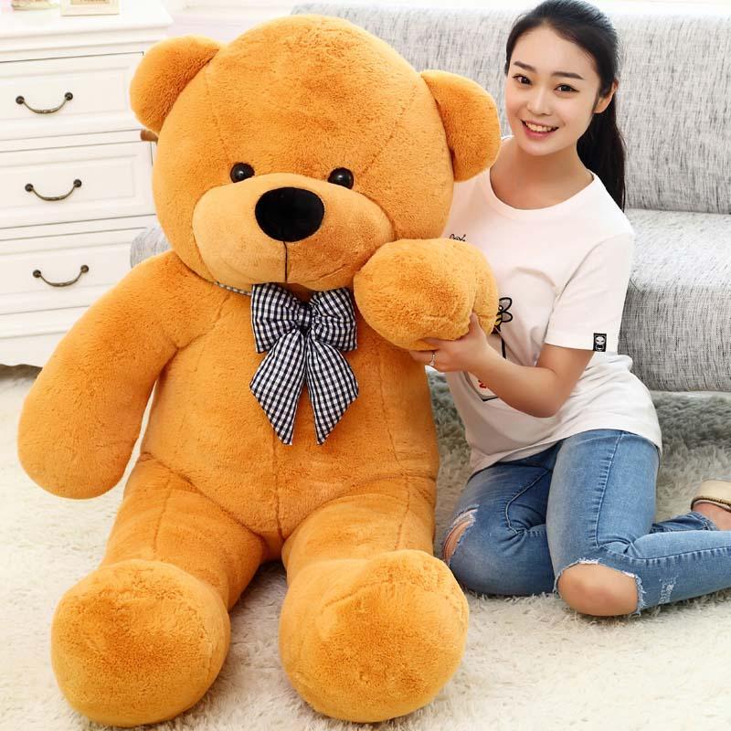 Giant teddy bear135 cm big stuffed toys for girl animals plush life size kid children baby dolls lover toy valentine gift lovely