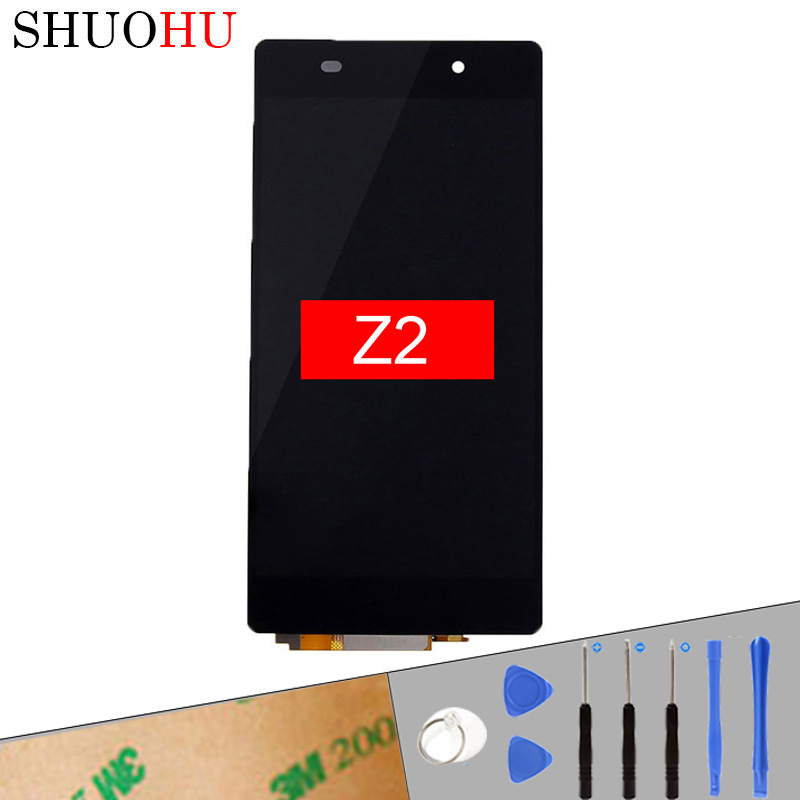 Tested LCD Screen 5.0 inch For Sony Xperia Z2 D6502 D6503 D6543 L50W LCD Touch Digitizer Screen Black free shipping with Tools new z2 lcd touch screen for sony xperia z2 l50w d6502 d6503 d6543 display touch panel digitizer tracking