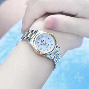 Image 4 - Carnival Women Automatic Watch Brief With Rhinestone Date Luxury Mechanical Watch Women Dress Watch Small Dis 26mm