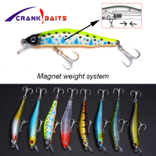 CRANK BAITS Laser Hard Bait Artificial Plastic 8cm 10g Minnow Fishing Lure Crank 3D Natural Eyes Tackle YB403