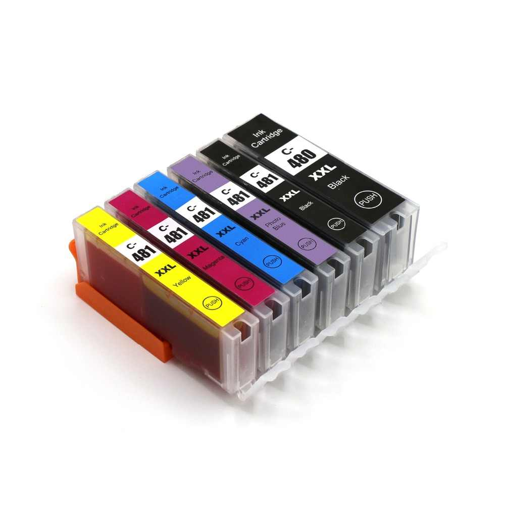 PGI-480 CLI-481 Tinta untuk Canon PIXMA TR7540 TR8540 TS6140 TS8140 TS9140 Printer Ink Cartridge