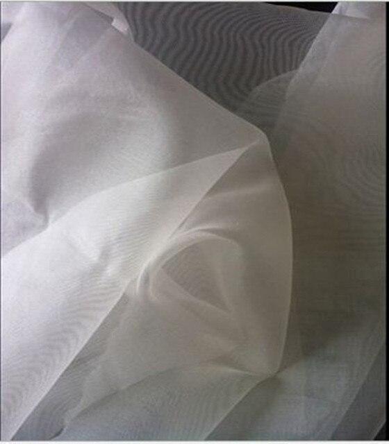 Шелковая сетка из органзы, 100% тутового шелка белого цвета, ширина 140 см, 6 мм, ширина 55 дюймов, 24 gsm, 10 метров, маленькая, оптовая продажа