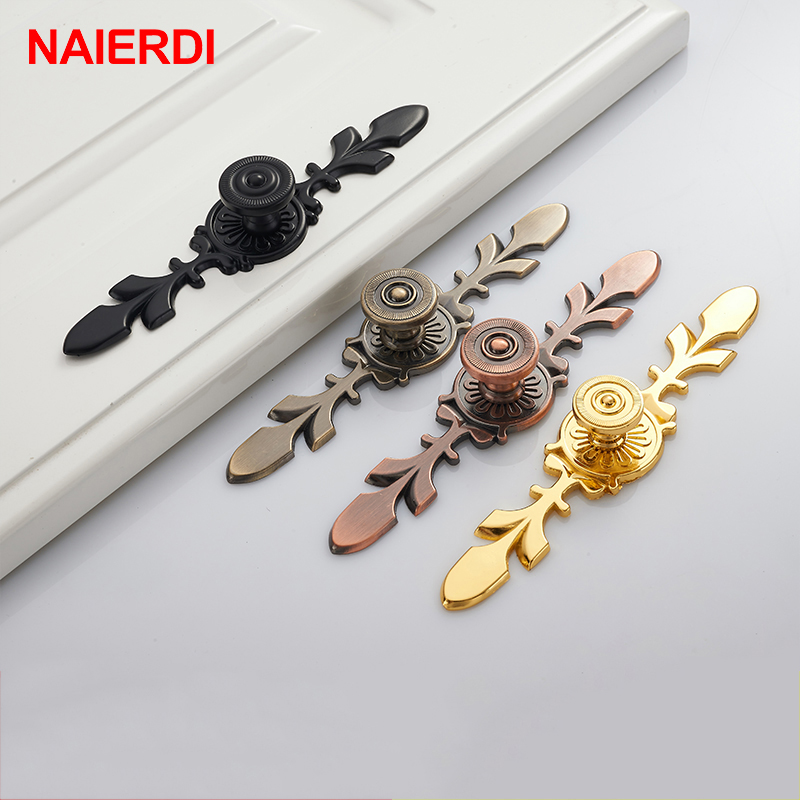 5PCS NAIERDI 120MM Bronze Handles Kitchen Door Cupboard Zinc Alloy European Modern Wardrobe Furniture Drawer Pulls Cabinet Knobs