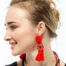 Bohemia Long Tassel Earrings Hanging Fringe Dangle Drop Earrings for Women Statement Earring Jewelry oorbellen brincos 2017