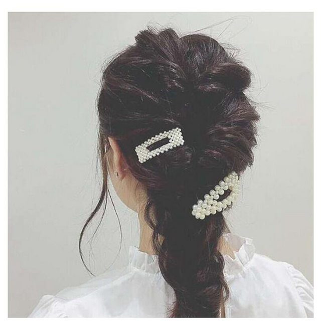 Женские заколки для волос с имитацией жемчуга сплав bb невидимки