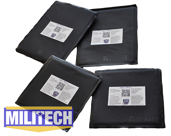 MILITECH 6 x 8 & 6 x 6 Two Pair Aramid Ballistic Panel Bullet Proof Plate Inserts Body Armor Soft Armour Panel NIJ Level IIIA 3A bulletproof aramid ballistic panel bullet proof plate inserts body armor soft side armour panel nij level iiia 3a 5 x 8 pair