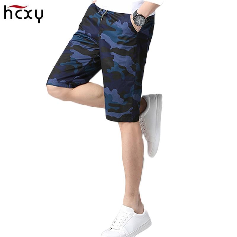 2018 Mens Cool Camouflage Summer Hot Sale Cotton Casual Men Short Pants Comfortable Camo Male Elastic Waist Cargo ShortsM-5XL