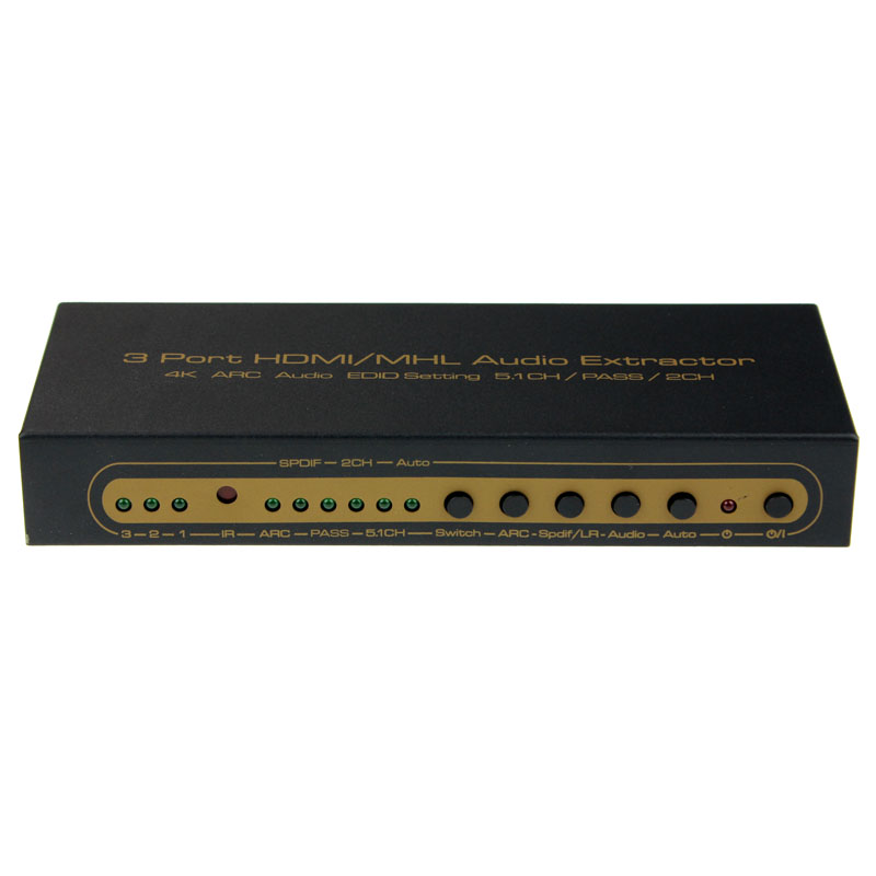 4K HDMI Switch Switcher Box Selector Out Audio Extractor Splitter ARC datum cable18Apr23 ...