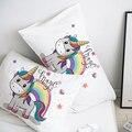 Наволочка на заказ  наволочка 50x70 50x75 50x80 70x70  декоративная наволочка с милым единорогом  мультяшное постельное белье для детей