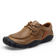 2f0a909a5 الأزياء الراحة في الهواء الطلق تسلق الجبال الأحذية أعلى العلامة التجارية تصميم  حذاء رجالي جلد طبيعي