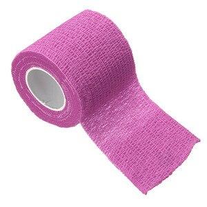 Image 5 - 3 шт./лот, цветная самоклеящаяся лента для поддержки мышц лодыжки и пальцев, эластичная медицинская повязка, марлевая перевязочная лента для спорта