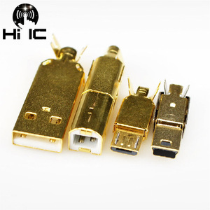 Image 3 - Tipo banhado a ouro tipo a b tipo c usb a usb b usb3.0 b mini usb mico conector usb jack cauda sockect conector porta sockect