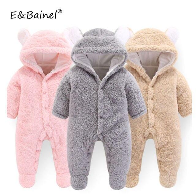 80580545e776 Baby Clothing 2018 Newborn Baby Boy Rompers Winter Bear Long Sleeve ...