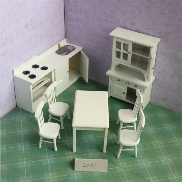 112 Dollhouse Miniature Weiß Schränke Möbel Spielzeug Pretend Play