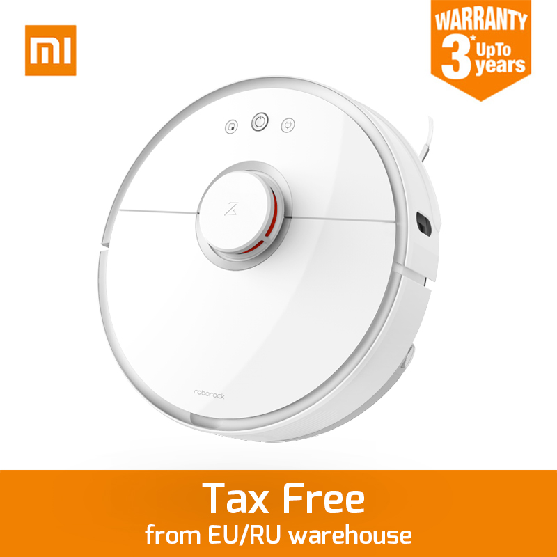 купить New Original Xiaomi Roborock S50 Robot Vacuum Cleaner 2 APP Control Dust Sterilize Smart Planned Sweeping and Wet Mopping