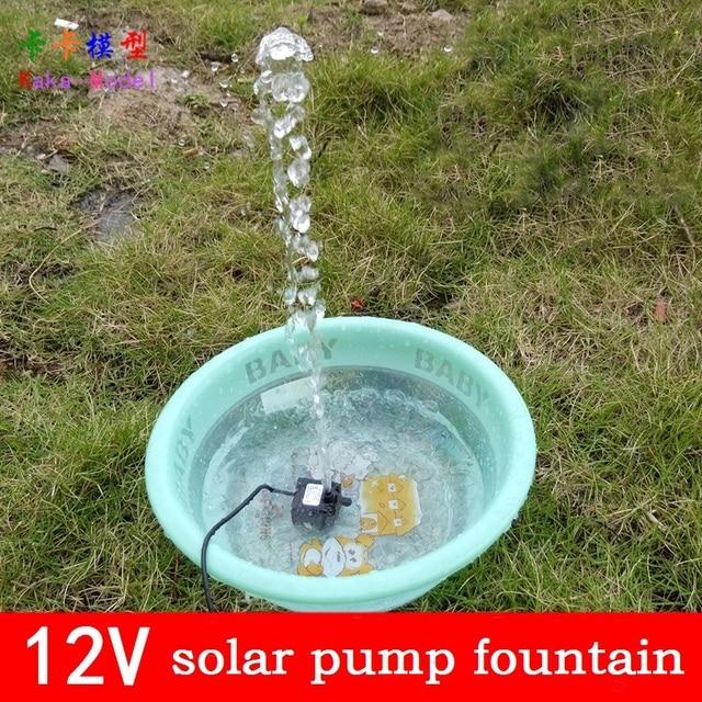 Solar Power Fountain Pool Water Pump Garden Irrigation Supplies Garden Pump  12V 5V Brushless Portable Submersible