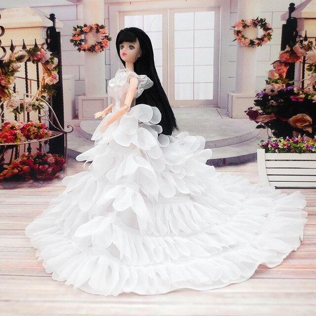 Suknia Wieczorowa Dla Lalka Barbie Wielu Warstwy Suknia ślubna Meble