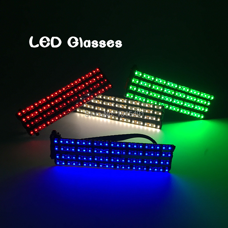 Brand Design Fashionable Sparkling Neon Led Glasses Festival Holiday Decor Twinkling 6 Colors EL Rave Party Eyeglasses by DC12V