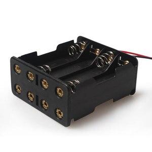 Image 4 - 1ピース8 × aaa 12ボルトバッテリーホルダーケースダブルサイド春バッテリーホルダー付きワイヤーリードバックによるバックプラスチックバッテリーボックスaaa