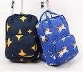 2015 Mulheres de Impressão Sacos De Escola Mochila de Lona Ocasional Mochila Bolsa de Ombro Estrela Gato Impresso Adolescentes Mochila Travel Bag 325x