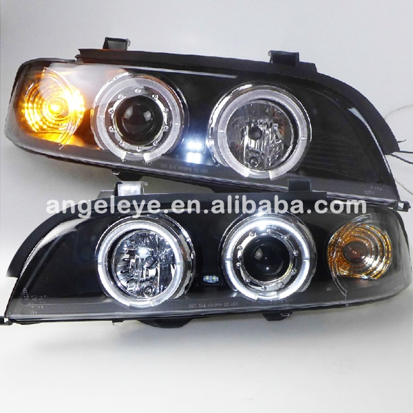 For BMW E39 5 Series 520 525 528 530 535 540 LED Angel Eyes Head Lamp 1995-2003 year SN