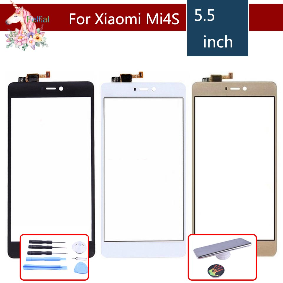 ORIGINAL For Xiaomi Mi4S Mi 4S M4S Touch Screen Digitizer Panel Sensor Front Outer Glass mi4s Touchscreen NO LCD 5.0