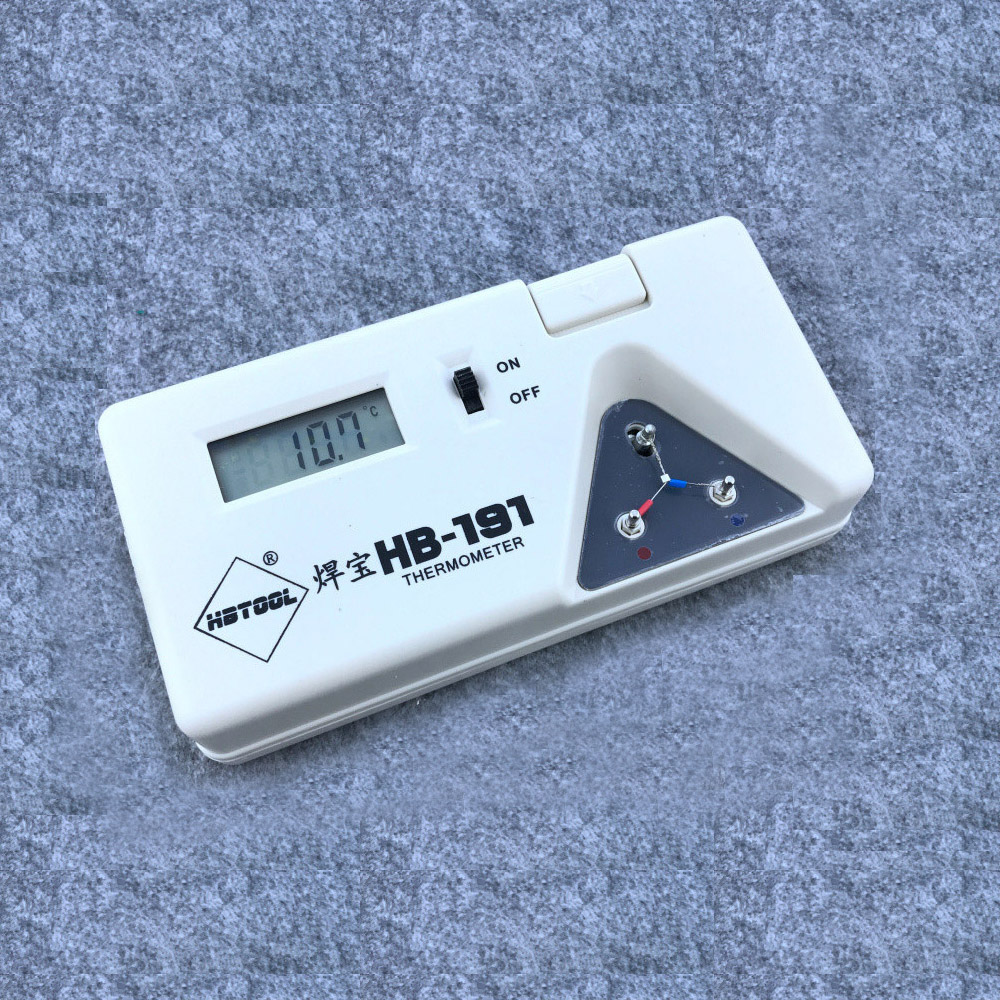 T12 HBtool 1PC Digital Display 191 Tip Thermometer Solder Iron Tip Digital Tester + 10PCS Sensor Line