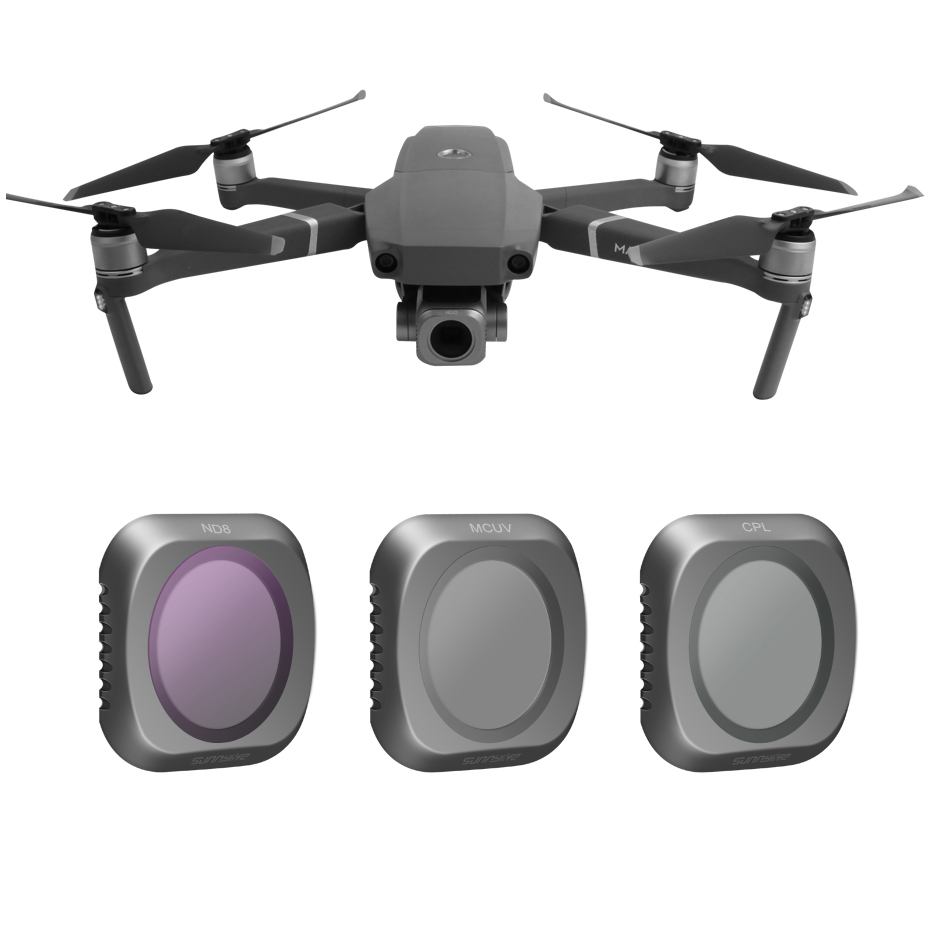 For DJI Mavic 2 Pro Neutral Density UV+CPL+ND8 Polar Drone Filter Set For Mavic2 Pro/Professional Protector Accessories Kit