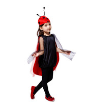 Children Cute Insects Cosplay Costume With Insects Image Headwear For Lovely Girl Halloween Party Preformance Show Costume