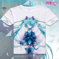 2016 women tshirt digital printed hot anime Hatsune Miku cosplay t shirt short-sleeve Hatsune Miku T-shirt women t shirt Costume