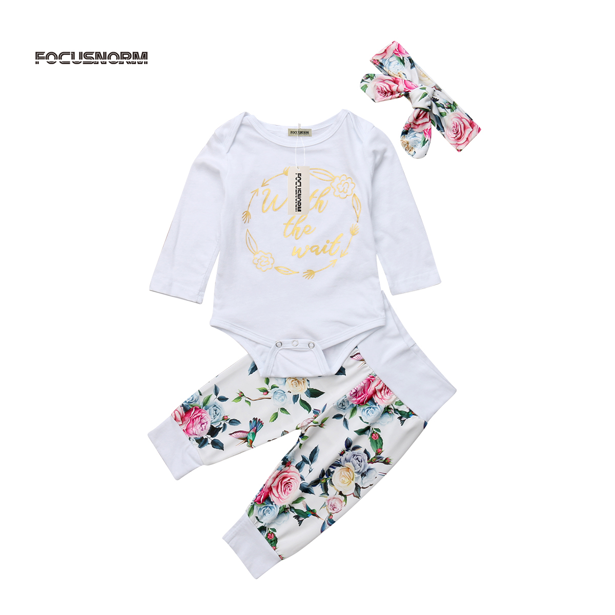 Pudcoco Infant Baby Girls Floral Clothes Jumpsuit Long Sleeve Romper Cotton Long Pants Outfits