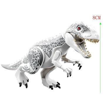 Park dinozaurów jurajski Indominus Rex DIY bloki dinozaury Tyrannosaurus Rex Tiny modele klocki dla dzieci Creator zwierzęta tanie i dobre opinie LEQUMOC CN (pochodzenie) Unisex 6 lat Mały budynek blok (kompatybilne z Lego) Certyfikat Compatible Creator Jurassic Dinosaur Park Dinosaurs Blocks Toy Creator
