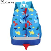 MOLAVE backpack new high quality Baby Boys Girls Dinosaur Pattern Animals Toddler School Bag backpack laptop JAN4(China)