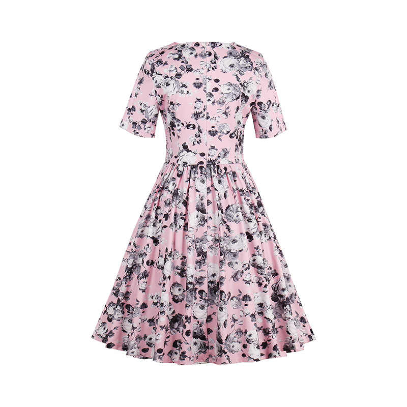 ... Sisjuly vintage dresses rose a-line floral print pleated 1950s style  elegant party dress short ... bbc1c2602dbe