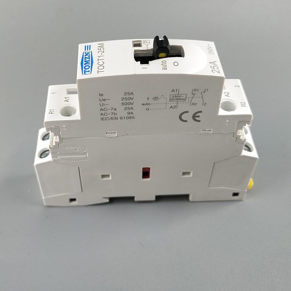 TOCT1 2P 25A 2NC 220V//230V 50//60HZ Din rail Household ac contactor