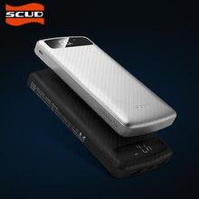 SCUD 20000 mAh Banque Universelle de Puissance externe batterie Double sortie USB portable chargeur Powerbank avec Type-c Micro USB entrée