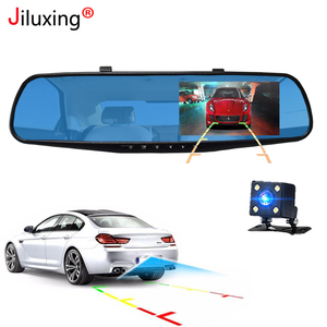 Image 4 - Jiluxing Car DVR 1080P touch screen Dual Lens Car Camera Mirror Video Recorder Rearview Mirror DVR Dash cam Auto Camcorder