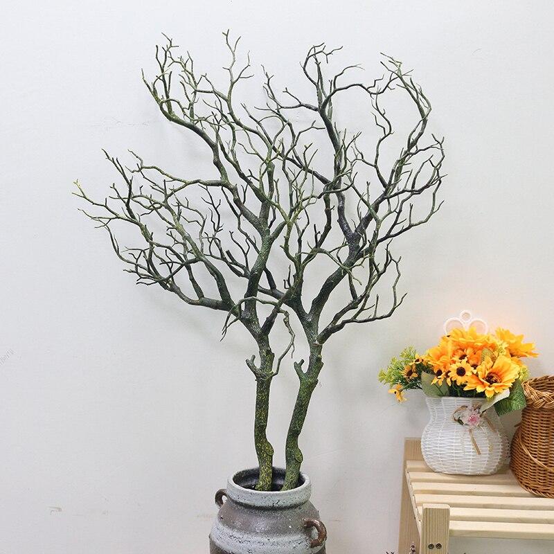 Искусственные цветы Коралловая ветвь искусственный цветок имитация букета растение большая ветка дерева Свадебные вечерние украшения для дома DIY