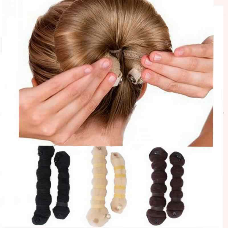 2 Pcs/Set Wanita Lady Hot Mode Rambut Styling Alat Sihir Gaya Roti Tali Braider Hairpin Headwear Elegan Rambut Band Aksesoris