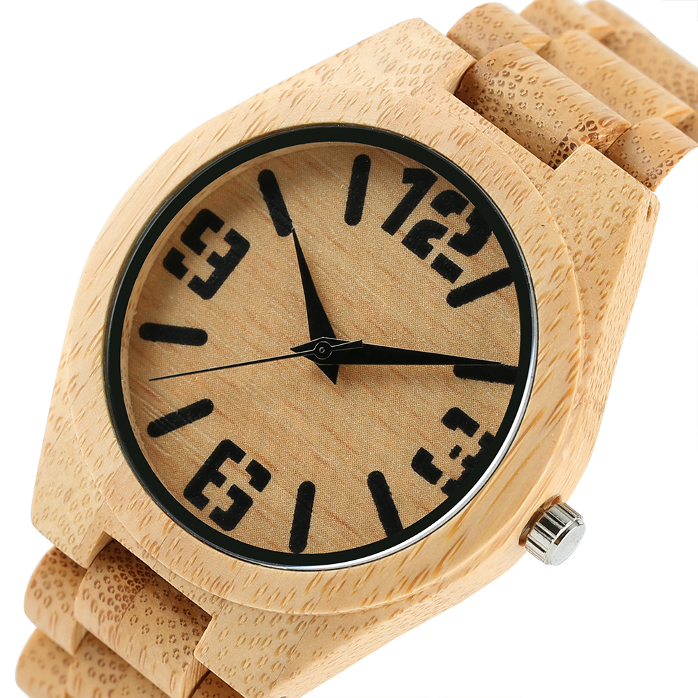 Luxury Natural Full Bamboo Wooden Watches Top Brand Luxury Men - Ерлердің сағаттары - фото 3