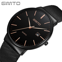 Casual Business Quartz Men Watch Top Brand Ultra Thin Steel Clock Luxury Male Waterproof Wrist Watches