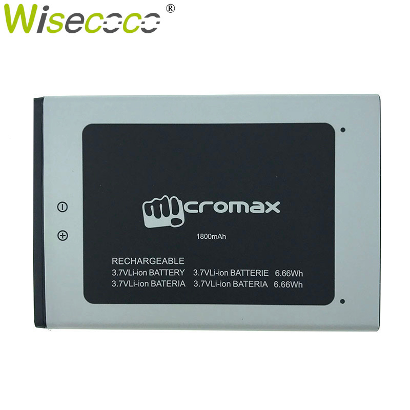 Wisecoco Q383 1800mAh 3.7V Battery For Micromax Q383 Bolt ACBIR18M01 Mobile Phone Battery Replacement+ Tracking Number