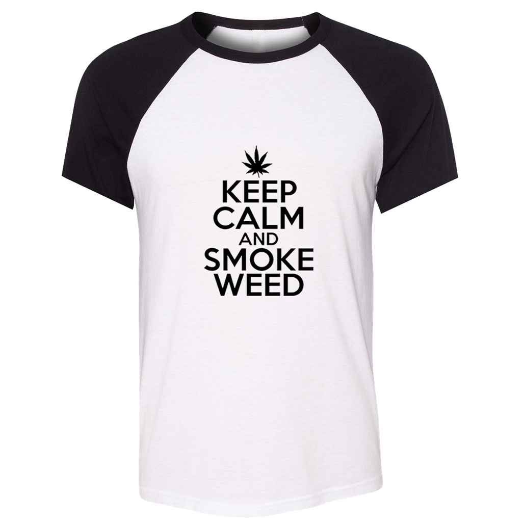 KEEP CALM AND SMOKE WEED Funny T Shirt Men Boys T-shirt Bring Me The Horizon Band Death Metalcore Tshirt The Who Band Tee image