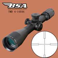 BSA TMD 4 14X44 FFP Hunting Riflescope First Focal Plane Glass Mil Dot Reticle Tactical Optics Sight Side Parallax Rifle Scope
