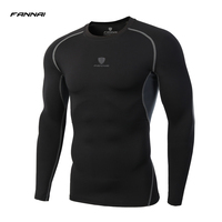 LS Brand 2017 Summer New Male T Shirt Tights Long Sleeve Tops Tees Men Compression Shirt