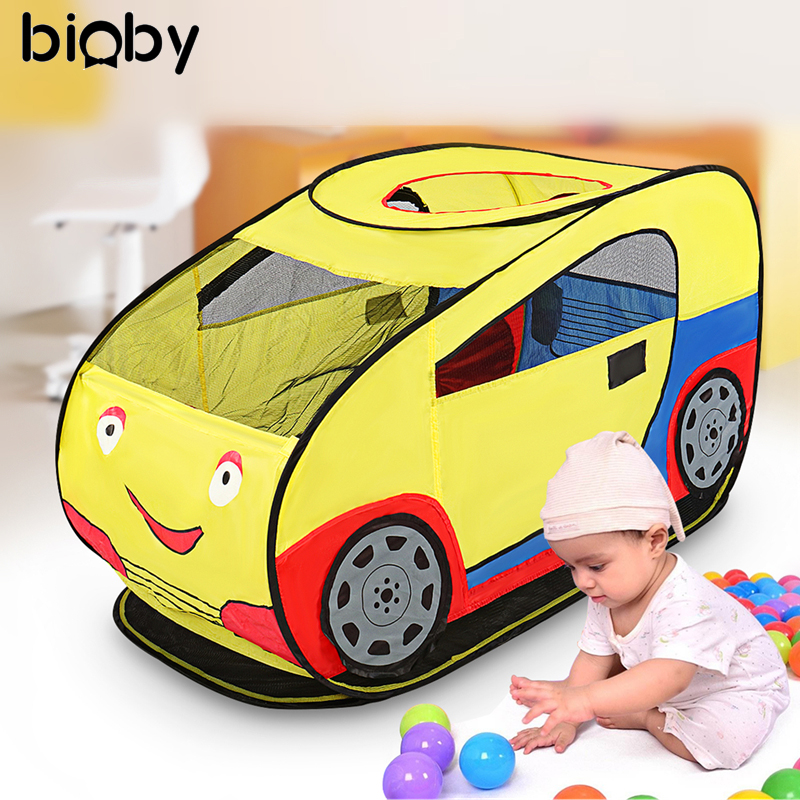 Baby Playpen Tent Cartoon Car Shape Foldable Playhouse Children Outdoor Indoor Sports Game Play House For Kids Brithday Gift ladybird shape humidifiers cartoon nebulizer suitable for car