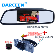 170 degree car rear view camera and 4.3″ car mirror kit suitable for  Hyundai new Santafe Santa Fe Azera newest arrival product.