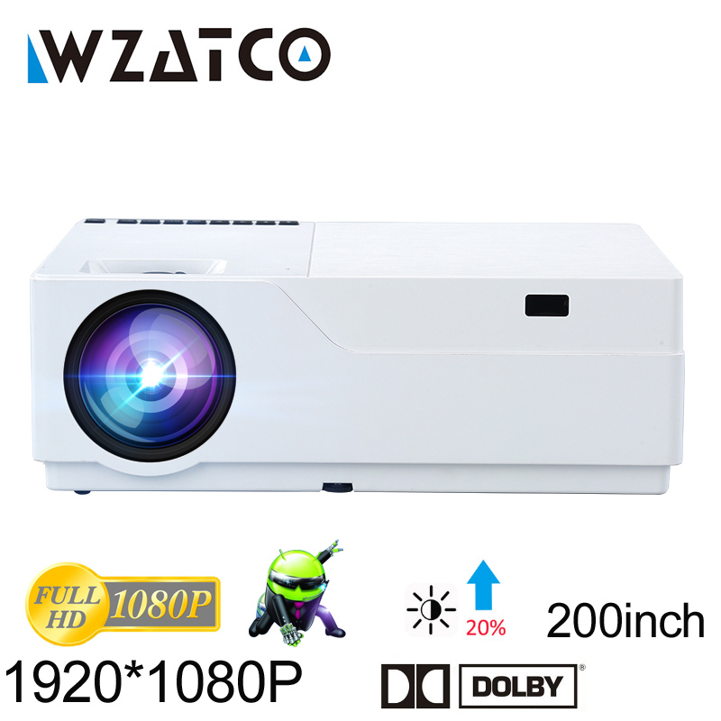 WZATCO Full HD Projector 1920x1080 Resolution LED Projector Support AC3 Home Theater 5500 Lumens Optional Android